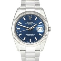 Rolex Oyster Perpetual Date Steel 34mm Blue No numerals United Kingdom, Manchester