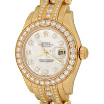 Rolex Lady-Datejust Pearlmaster Yellow gold 27mm Mother of pearl No numerals United States of America, Texas, Dallas