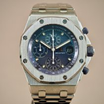 Audemars Piguet Royal Oak Offshore Chronograph Acero 42mm Azul Arábigos