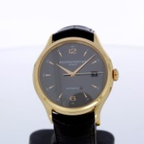 Baume & Mercier Clifton pre-owned 39mm Grey Date Leather