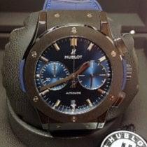 Hublot Classic Fusion Blue occasion 45mm Bleu Chronographe Date Caoutchouc