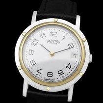 Hermès Clipper Gold/Steel 34mm White Arabic numerals United States of America, Georgia, Suwanee