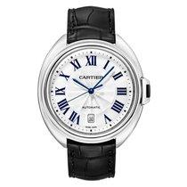 Cartier Clé de Cartier Oro blanco 40mm Plata