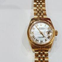 Rolex Or jaune Remontage automatique Nacre Romains 26mm occasion Lady-Datejust
