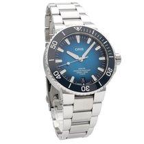 Oris Steel Automatic Blue No numerals 42mm new Aquis Date
