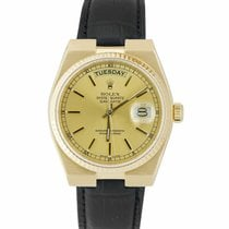 Rolex Day-Date Oysterquartz Желтое золото 36mm Цвета шампань