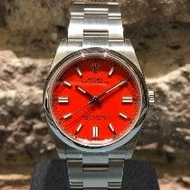 Rolex Oyster Perpetual 36 Acero 36mm Rojo Sin cifras