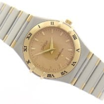 Omega Constellation Ladies Gold/Steel 25mm Gold No numerals