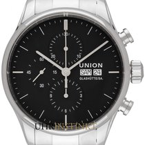 Union Glashütte Viro Chronograph Steel 44mm Black
