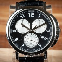 Montblanc Summit pre-owned 40mm Black Chronograph Date Leather