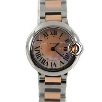 Cartier Ballon Bleu 28mm pre-owned 28mm Mother of pearl Steel