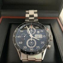 TAG Heuer Carrera Calibre 16 pre-owned 41mm Black Chronograph Date Steel