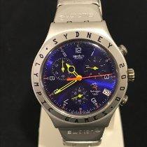 Swatch Aluminum Quartz Blue 40mm pre-owned