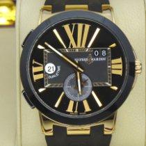 Ulysse Nardin Executive Dual Time Rose gold 43mm Black Roman numerals United States of America, New York, Williston Park