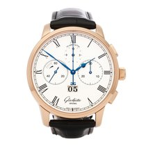 Glashütte Original Senator Chronograph Panorama Date Rose gold 42mm White Roman numerals