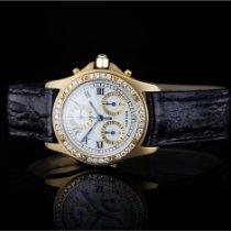 Cartier Желтое золото Кварцевые Белый Римские 30mm подержанные Santos (submodel)