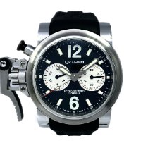 Graham pre-owned Automatic Black Sapphire crystal 10 ATM