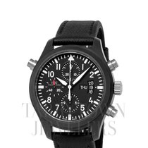 IWC Ceramic Automatic Black Arabic numerals 44mm pre-owned Pilot Double Chronograph