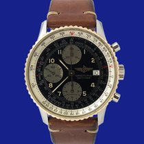 Breitling Old Navitimer occasion 41mm Noir Chronographe Date Cuir