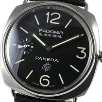 Panerai Radiomir Black Seal pre-owned 45mm Black Leather