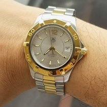 TAG Heuer Aquaracer 300M pre-owned 38mmmm Silver Gold/Steel