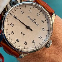 Meistersinger N° 01 pre-owned 51mm Silver Leather