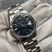 Rolex Oyster Precision Steel 34mm Black No numerals United Kingdom, HAYES