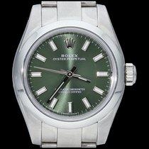 Rolex Oyster Perpetual 26 Acier 26mm Vert Sans chiffres