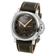 Panerai Luminor 1950 8 Days GMT Titanium 47mm Brown