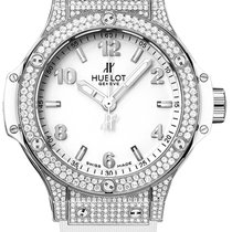 Hublot Big Bang 38 mm Сталь 38mm Белый Aрабские