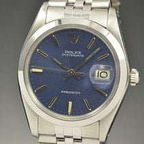Rolex Oyster Precision pre-owned 34mm Blue Date Steel