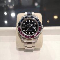 Rolex GMT-Master II White gold 40mm Black No numerals Malaysia