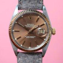 Rolex Datejust Gold/Stahl 36mm Braun Keine Ziffern Schweiz, Nottwil
