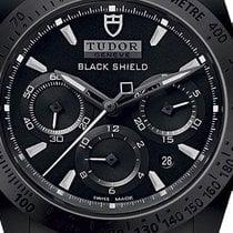 Tudor Fastrider Black Shield Céramique 42mm Noir Sans chiffres