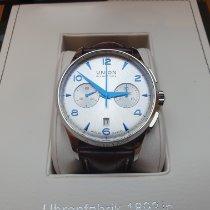Union Glashütte Noramis Chronograph Steel 42mm Silver Arabic numerals