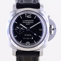 Panerai Steel Automatic Black Arabic numerals 44mm pre-owned Luminor 1950 8 Days GMT
