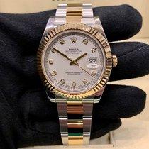 Rolex Datejust II usato 41mm Bianco Data Oro/acciaio