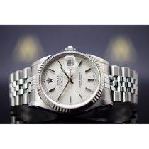 Rolex Stahl Automatik Silber 36mm gebraucht Datejust