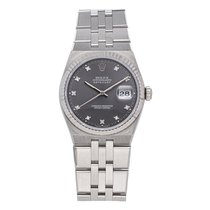 Rolex Datejust Oysterquartz Steel 36mm Grey No numerals