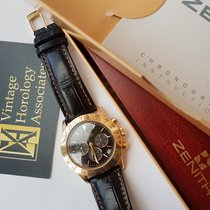Zenith El Primero Chronograph Žluté zlato 40mm Černá Bez čísel Slovensko, Bratislava
