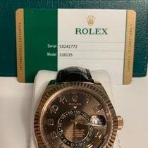 Rolex Sky-Dweller Roségoud 42mm Bruin Arabisch Nederland, OOSTERHOUT