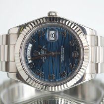 Rolex Day-Date II White gold 41mm Blue Roman numerals United Kingdom, Newcastle Upon Tyne
