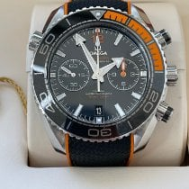 Omega Seamaster Planet Ocean Chronograph pre-owned 45.5mm Black Chronograph Date Rubber