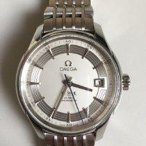 Omega De Ville Hour Vision gebraucht 41mm Silber Datum Stahl