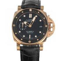 Panerai Luminor Submersible 1950 3 Days Automatic Oro rosa 42mm Negro Sin cifras