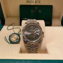 Rolex Datejust Stahl 41mm Grau Keine Ziffern Deutschland, Gießen