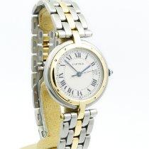 Cartier Cougar Золото/Cталь 30mm Белый Римские