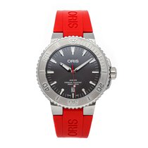 Oris Steel Automatic Grey No numerals 43.5mm pre-owned Aquis Date
