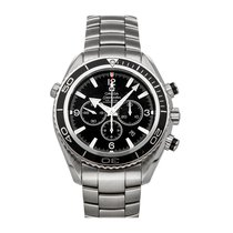 Omega Seamaster Planet Ocean Chronograph pre-owned 46mm Black Chronograph Date Fold clasp
