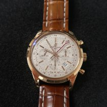 Breitling Transocean Chronograph GMT Rose gold 43mm Silver No numerals